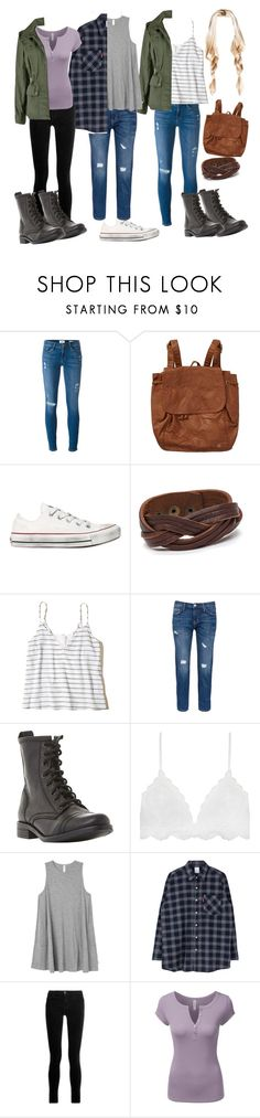 """Camping"" by rosebuds1617 ❤ liked on Polyvore featuring Frame, Billabong, Converse, Hollister Co., Current/Elliott, Steve Madden, Serendipity, RVCA, J Brand and Doublju"