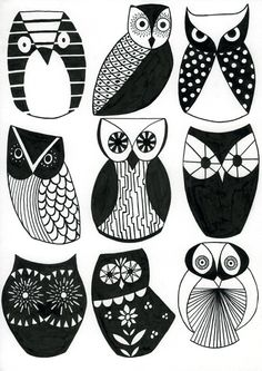 Sharon Elphick - Optical Owls