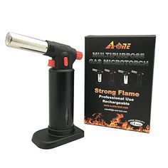 AONE GAS TOOL Professional Gas TorchMultipurpose Blow torchKitchen Butane BurnerHardware Torch Culinary Baking TorchCreme Brulee Butane TorchChef Food Torch BurnerGas MicrotorchBlack >>> Check this awesome product by going to the link at the image.