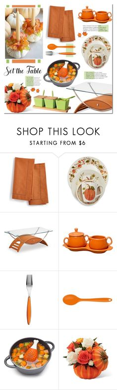 """Set the Table"" by mada-malureanu ❤ liked on Polyvore featuring interior, interiors, interior design, home, home decor, interior decorating, Martha Stewart, Sur La Table, Fiesta and Guzzini"