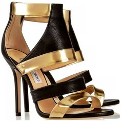 Jimmy Choo    Besso textured and mirror leather sandals  $795