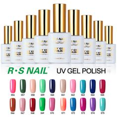 R.S 15ml New soak off uv color gel nail polish set unhas de gel lucky gel nail polishes varnishes professional vernis a ongle