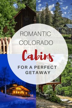 , 15 Romantic Colorado Cabins Perfect For Honeymoons , Not everyone wants a honeymoon or take a romantic vacation to the beach. I think a honeymoon in the mountains at a romantic cabin is a perfect way to . Romantic Cabin Getaway, Getaway Cabins, Romantic Vacations, Romantic Getaways, Romantic Travel, Honeymoon Destinations Usa, Honeymoon Cabin, Honeymoon Planning, Best Honeymoon