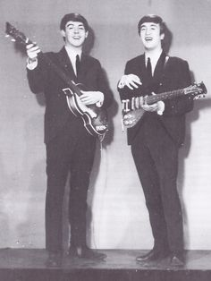 """thegilly: """"A publicity shot for their first appearance on Round Up, August """" Beatles One, John Lennon Beatles, Beatles Photos, My Love Paul Mccartney, Lennon And Mccartney, Paul Is Dead, Band On The Run, Richard Starkey, Gentlemen Prefer Blondes"""