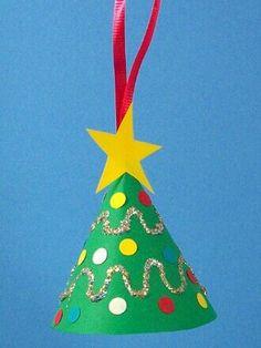 How To Make A Miniature Christmas Tree Ornament - Christmas Crafts in Christmas Tree Crafts Ornaments 50 Ho Kids Crafts, Preschool Christmas Crafts, Christmas Arts And Crafts, Christmas Activities, Christmas Projects, Christmas Themes, Holiday Crafts, Kindergarten Christmas, Craft Kids