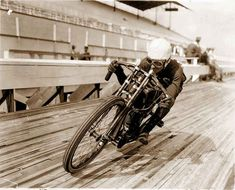 1920s Harley Davidson motorcycle motordrome by Antiquephotoarchive
