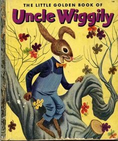 1950s childrens books, Uncle Wiggily, 1953 and  Pancho the Donkey, 1950. $6.00, via Etsy.