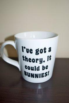 I've got a theory, it could be bunnies! Buffy the Vampire Slayer Coffee Mug Anya Joss Whedon