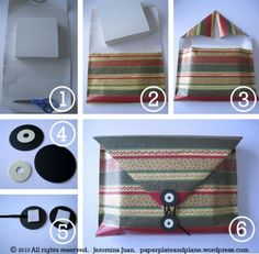 DIY envelope gift wrap for flatter boxes