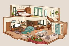 Sims House Design, Home Room Design, Dream Home Design, Sims Building, Building Design, Sims 4 House Plans, Isometric Art, Fantasy House, House Layouts