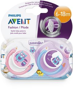 Avent%20BPA%20Free%206-18%20Months%202%20Pack%20Classic%20Orthodontic%20Pacifiers%20-%20Owl/Moon%20(Colors%20and%20Styles%20May%20Vary)