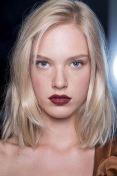 bold lip meets no makeup face
