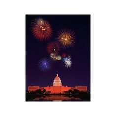 United States Capitol Building and Fireworks Photographic Wall Art... (€28) ❤ liked on Polyvore featuring home, home decor, wall art, 101 dalmatians, entertainment, family films, family films by title, movies, movies by genre and wall coverings