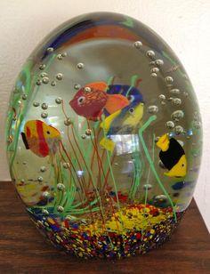 Mid Century Retro Italian Murano Fish Aquarium Paperweight | eBay