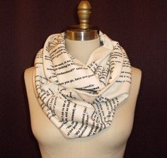 SCARVES WITH BOOKS PRINTED ON THEM every nerd girls dream