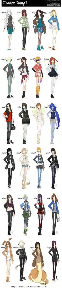 Estílos de ropa para tus personajes c: