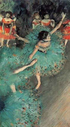 The Green Dancer by Edgar Degas (1880) Love Degas he paints like I do too!?!