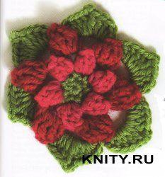 Crochetpedia: 2D Crochet Flowers Free Patterns. Bello! Tanti schemi di fiori!