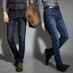>> Click to Buy << Every Mens need This one Jeans For winter  Ripped Button Jeans Autumn Winter Jeans warm flocking warm soft men jeans 6 colors  #Affiliate