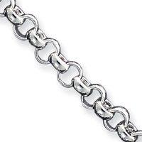 Sterling Silver 8.5 Inch Fancy Link Bracelet - Toggle - JewelryWeb JewelryWeb. $127.80