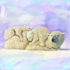 Scott Wilson - POLAR BEAR TWO CUBS PAINTING.jpg