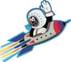 Mole on a rocket. Krtek