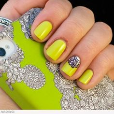Neon nails. I don't know quite about the design though.....