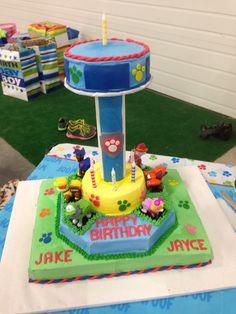 Paw patrol look out tower birthday cake #birthdayboy#firstbirthday