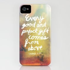 James 1:17 iPhone Case by Ryan Miranda - $35.00 This is just amazing.