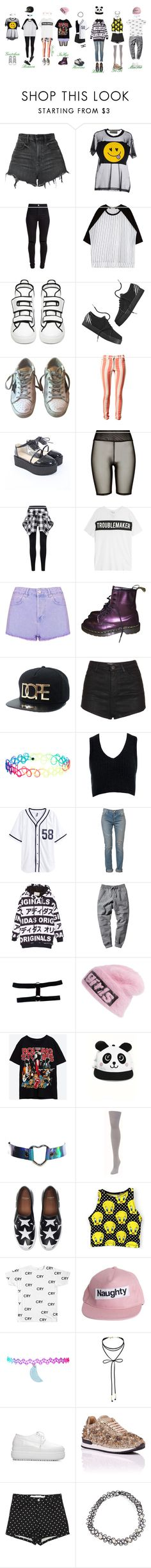 """""""Flower Power """"Queens"""" Dance Practice"""" by candy-ninjas ❤ liked on Polyvore featuring Alexander Wang, TeeTrend, New Look, Raf Simons, adidas NEO, Golden Goose, House of Holland, River Island, Zoe Karssen and Topshop"""