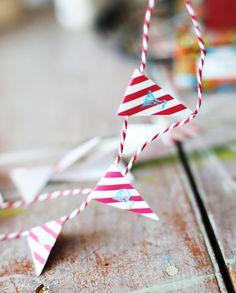 Happy Birthday Mini Bunting, free printable. (for Circus Party) via lilblueboo.com