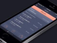 Dribbble - Cryptocoin Wallet App UI Animation by Roman Shkolny