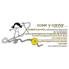 """Lámina """"Coser y Cantar"""""""