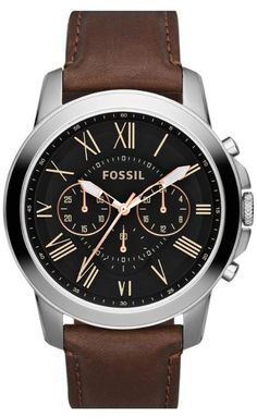 A Fall Essential: The Brown Leather Strap Watch.