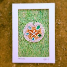 Seed Bead Embroidered Sand Dollar by Epigman on Etsy, $48.00