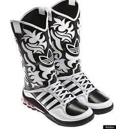 Adidas Cowboy Boot Sneaker Hybrid - designed by Jeremy Scott (only $300) not sure if there's a direct link though