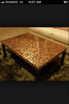 a penny table.  I wanna try this!!!