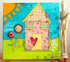 X-press It Canvas and masking tape Tutorial by Kim Jeffress