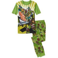 Teenage Mutant Ninja Turtles Boys 2 Piece Cotton Pajama Set