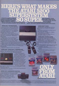 Atari 5200 Retro Gaming Ad #ads #retrogaming #oldschool