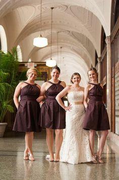 chocolate bridesmaid dresses