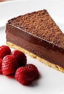 Chocolate tart - Dominic Chapman - a wonderful combination of flavours brought together.