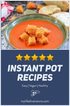 Enjoy 23 easy and delicious vegan recipes in your Instant Pot.Try a variety of hot soups (broccoli cheddar, carrot ginger, potato leak, mulligatawny, tomato, lentil and curry), portobello pot roast, cuban black beans, pasta, tasty curries and chilis,smoky lentil sloppy joes, mexican quinoa, lentil risotto with butternut squash, spaghetti and meatballs, stir fry, maple ginger noodles, lo mein, and wild rice dishes. So much versatility with your instant pot. #crockpot #pressurecooker #healthyvega Delicious Vegan Recipes, Great Recipes, Whole Food Recipes, Healthy Recipes, Vegan Meal Plans, Vegan Meals, Mulligatawny, Mexican Quinoa, Lo Mein
