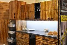 Superbe Modern Kitchen Zebra Bamboo Cabinets Metal Box Pull Out Drawers In Toronto