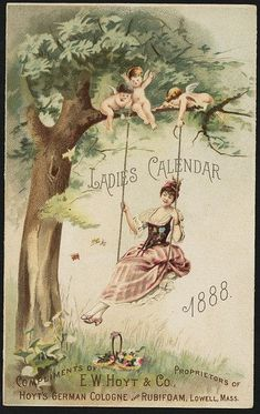 Image result for vintage ads containing lady on a swing