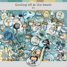 Oscraps.com :: Shop by Category :: All New :: SoMa Design: Cooling Off At The Beach - Kit Digital Scrapbooking, Kit, Cool Stuff, Comics, Beach, Shop, Design, Cool Things