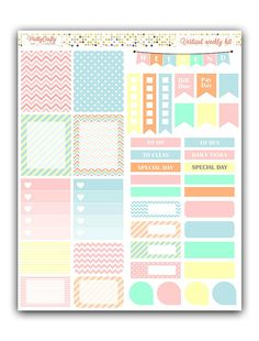 Cotton Candy weekly stickers kit  Themed by PrettyCraftyStickers