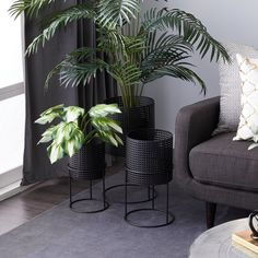 Living Room Plants, Room With Plants, Living Room Green, New Living Room, Living Room Modern, Interior Design Plants, White Interior Design, Home Interior, Interior Ideas