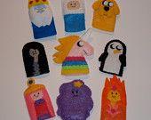 Adventure Time Felt Finger Puppets. $20.00, via Etsy.