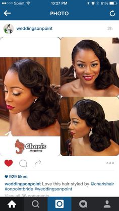 cool Beautiful Pin Up for the Bride! Weddings On Point. African American Wedding....